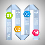 Step by step ribbons manual eps10 vector illustration