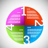Color paper progress circle eps10 vector illustration