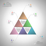 Infogrphic triangle for data presentation eps10 vector illustrat