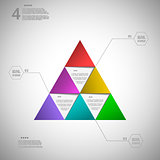 Colorful triangle for data presentation eps10 vector illustratio