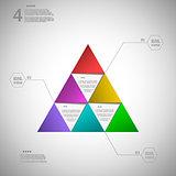 Colorful triangle for data presentation eps10 vector illustratio