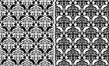 Floral damask seamless patterns