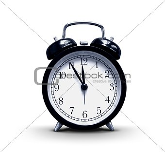 Alarm-clock on white background