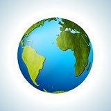 Grunge vector globe