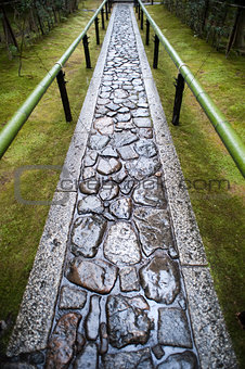 Wet footpath in Koto-in