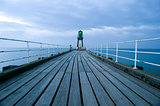 Navigation beacon on Whitby pier