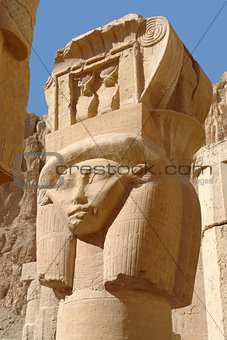 sculpture at the Mortuary Temple of Hatshepsut
