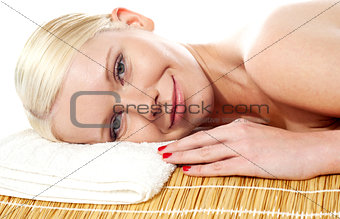 Attractive spa woman relaxing