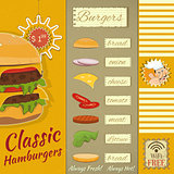 Burgers Menu