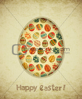 Vintage Retro Easter Card