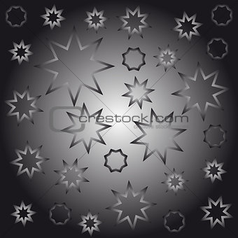 Abstract octagonal stars