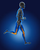 3D running medical man