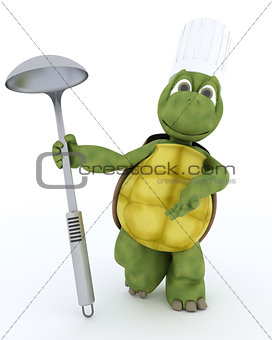 tortoise chef with ladle
