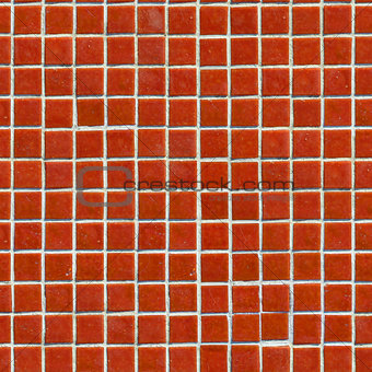 Red Tile Wall Texture.