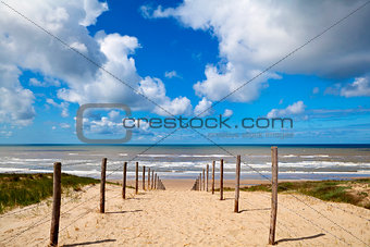 path to the beach on North Sea in Zandvoort aan Zee