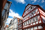 view on traditional German homes in Marburg