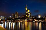 colorful Frankfurt am Main at night