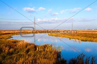 river in Drenthe at sunrise