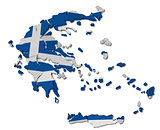 Greece map cracked