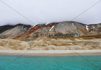 Arctic beach in Spitsbergen (Svalbard island)