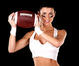 american football girl