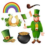 Leprechaun and Saint Patrick's Day symbols