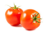 Two ripe tomato