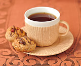 A Cup of Tea with Peanut Cookies