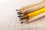 A few wooden pencils
