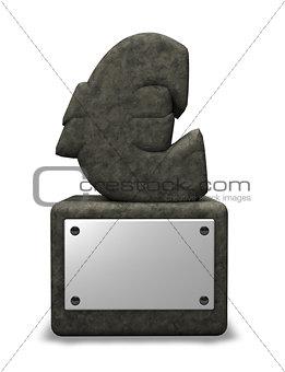 stone euro symbol