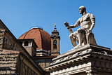 Statue of Giovanni delle Bande Nere at Piazza San Lorenzo by Bac