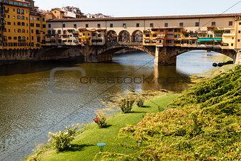 Ponte Vecchio Bridge Across Arno River in Florence at Morning, I