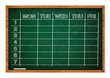 School timetable