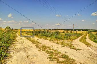 Fork of dirt roads