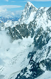 Mont Blanc mountain massif (view from Aiguille du Midi Mount,   