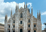 Milan Cathedral or Duomo di Milano (Italy).