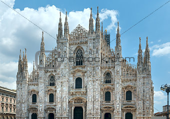 Milan Cathedral or Duomo di Milano (Italy).