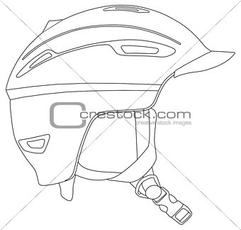 Skiing and snowboarding helmet