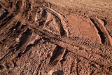 Mud bike tracks texture