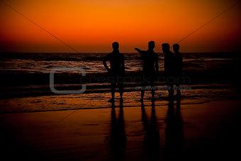 Sunset or sunrise at beach
