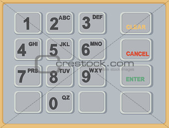 Cash Machine ATM Keypad