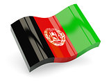3d flag of Afghanistan