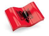 3d flag of Albania