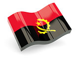 3d flag of Angola