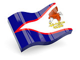 3d flag of American Samoa
