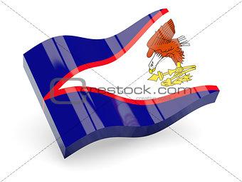 3d flag of American Samoa