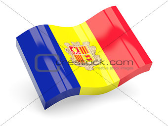 3d flag of Andorra