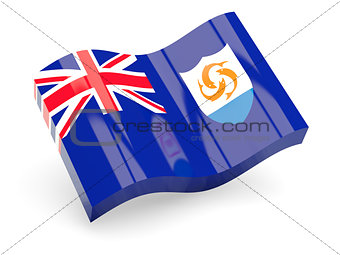 3d flag of Anguilla