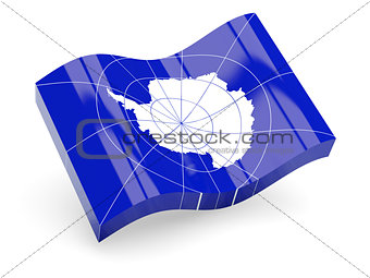 3d flag of Antarctica