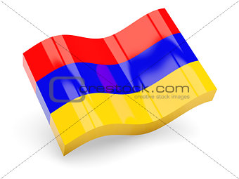 3d flag of Armenia